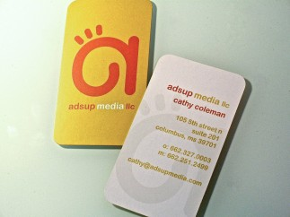 Ads Up Media Business Card
