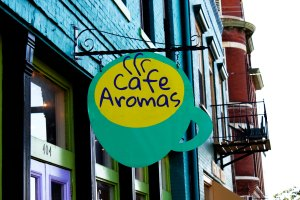 Cafe Aromas Signage